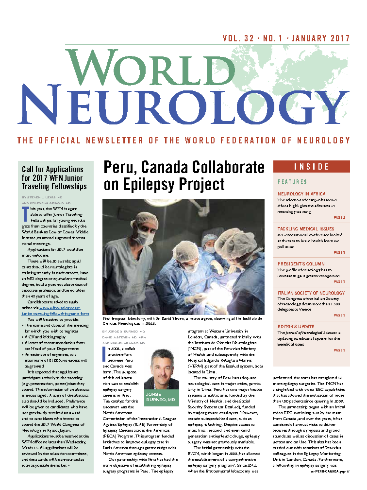 Latest issue: World Neurology - January 2017