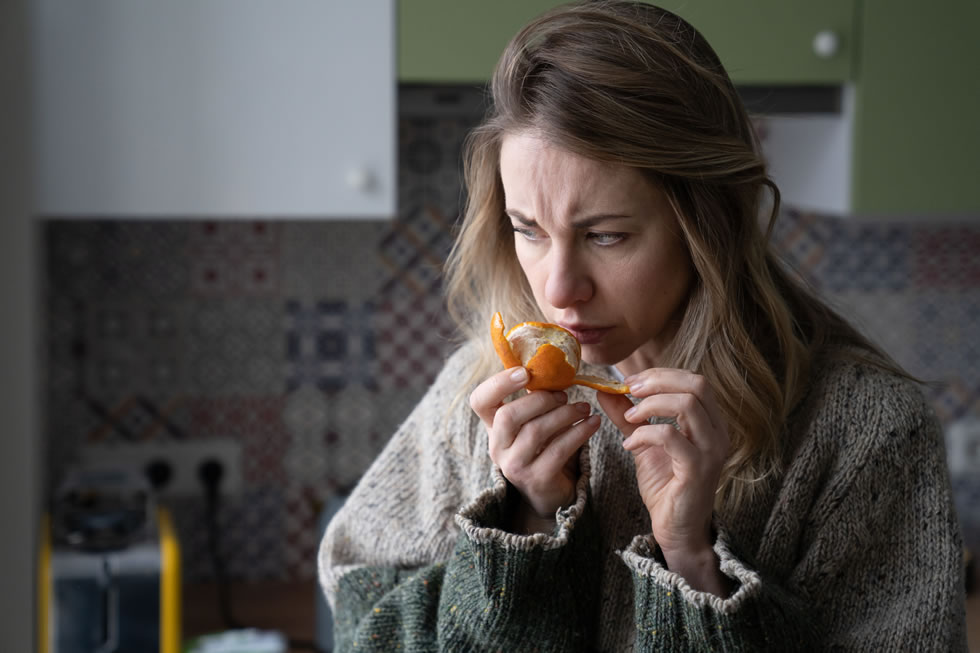 People with COVID-19 may lose their sense of smell and taste for up to five months after infection, according to a preliminary study