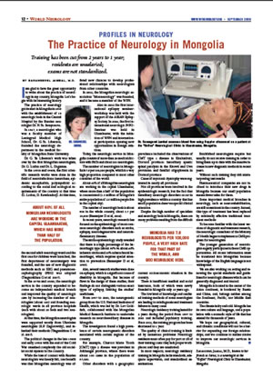 The Practice of Neurology in Mongolia