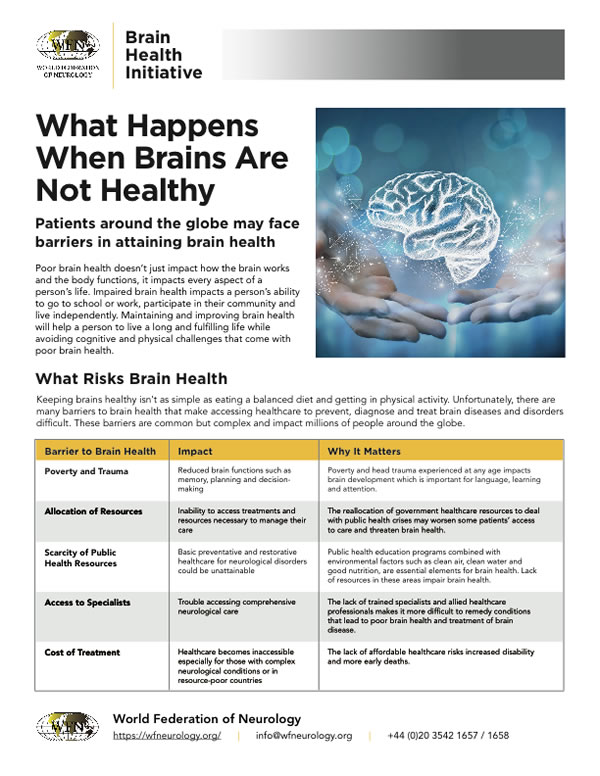 What Happens When Brains are Not Healthy